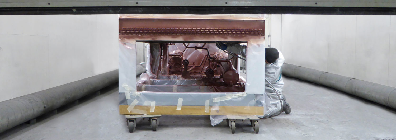 Condensor spuitcabine