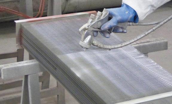 Verdampbatterij spuitcabine voor